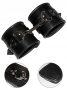 Black Padded Leather Restraint Cuffs
