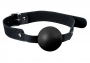 GP Solid Silicone Ball Gag Black