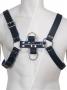 Genuine Leather BDSM Top Harness Black-Blue