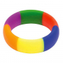Rainbow Silicone Cock Ring (45/19mm)