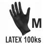 Rukavice LATEX čierne (100ks - M)