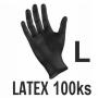 Rukavice LATEX čierne (100ks - L)