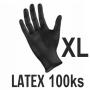 Rukavice LATEX čierne (100ks - XL)
