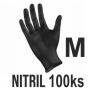 Rukavice NITRIL čierne (100ks - M)