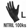 Rukavice NITRIL čierne (100ks - L)