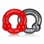 Ultraballs 2 Pack Cockring Steel Red (2ks)