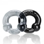 Ultraballs 2 Pack Cockring Black Clear (2ks)