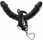 Vibrating Double Delight Strap-On Black
